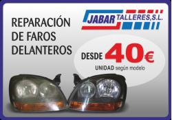 REPARACION DE FAROS EN TALLERES JABAR