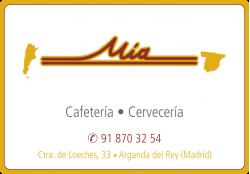 CAFETERIA CERVECERIA MIA ARGANDA DEL REY