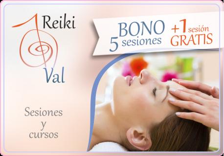 BONO REIKI • 5 SESIONES + 1 GRATIS