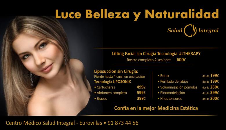 LUCE BELLEZA Y NATURALIDAD CENTRO MEDICO SALUD INTEGRAL